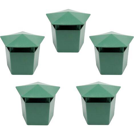 """5 Pcs Escargot Piège à 9,9 x 6,1 x 7,1 cm Vert respectueux de l'environnement Escargots Catcher 3.9"""" x 2.4"""" x 2.8"""" Vert"""