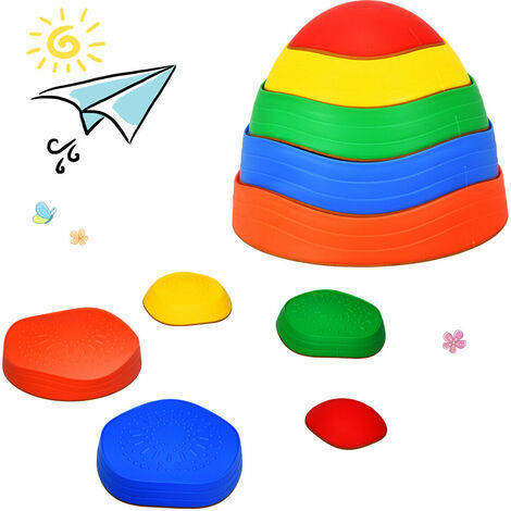 5 PCS Kids Balance Stepping Stones Educational River Stones Game Non-slip Edge