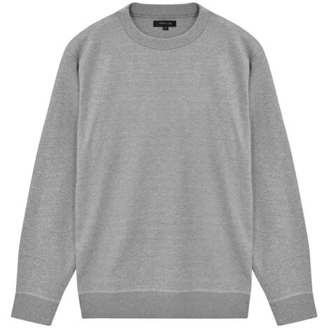 5 pcs Men's Pullover Sweaters Round Neck Grey L