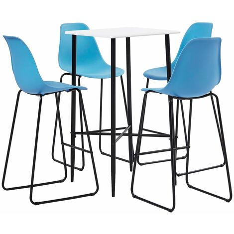 5 Piece Bar Set Plastic Blue