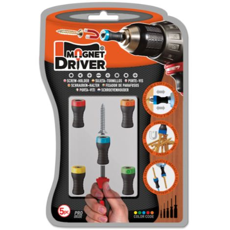 5 Piece Magnet Driver Set with various sizes included