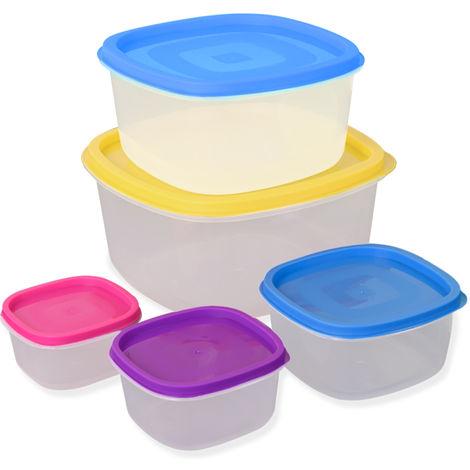 5 Pieces Food Storage Lunch Break Box Multi-Coloured