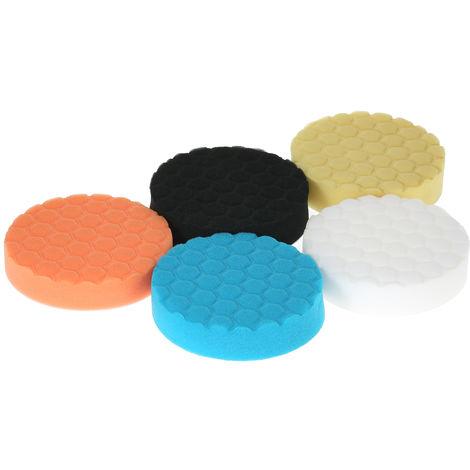 """5 piezas, almohadillas de pulido para automoviles,3""""80 mm/4"""" 100 mm/5""""125 mm/6"""" 150 mm/7""""180 mm"""