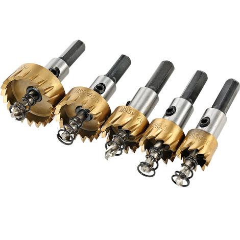 5 piezas de acero de alta velocidad cortador de sierra herramienta diente de sierra, HSS 6542 juego de brocas recubiertas de titanio