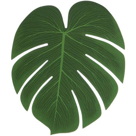 5 piezas, planta de simulacion, tela de seda, hojas de palma falsas,L