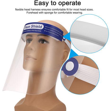 5 piezas, protector facial, con protector de esponja protector facial