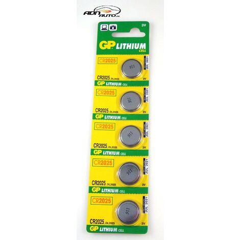 5 Piles 3V CR2025 Lithium