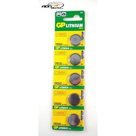 5 Piles 3V CR2032 Lithium - GP