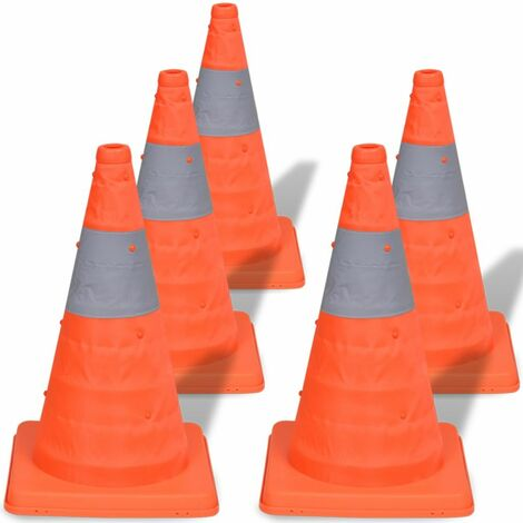 5 Pop-up Traffic Cones 42 cm