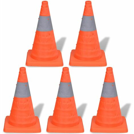 5 Pop-up Traffic Cones 42 cm QAH04164