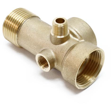 "5-Port BRASS Splitter Manifold Distributor 1inch 1/4"" Pressure Vessel Expansion"