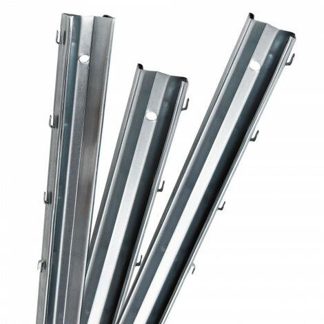 5 poteaux de clôture à profil en Z 2 m clôture de protection contre la faune sauvage, clôture de pâturage, clôture forestière