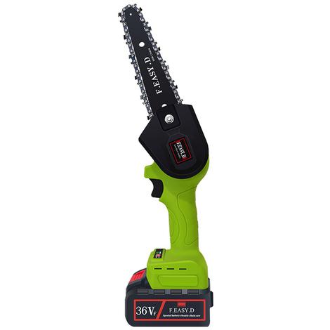 5 Pouces 36Vf Portable Brushless Electrique Rechargeable Pruningsaw Petit Bois Spliting Chainsaw Une Seule Main Travail Du Bois Outil De Jardin Orchard