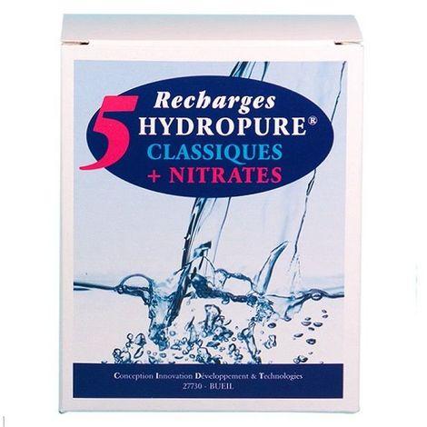 5 recharges filtrantes (filtre Classique + Nitrates) - HYDROPURE RCN