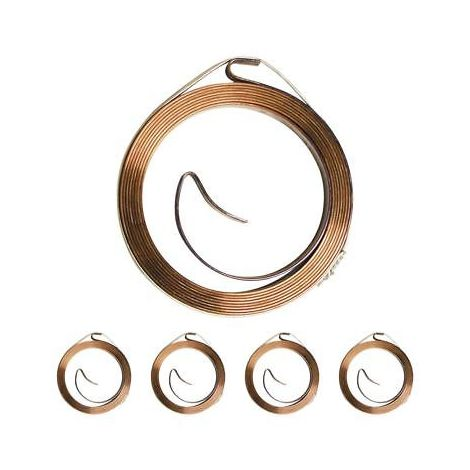 5 Replacement Recoil Starter Springs Compatible With Honda GX120 GX160 GX200