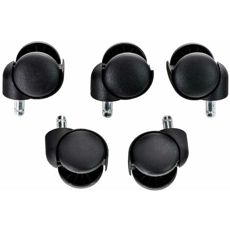 5 Ruedas para Sillas de Oficina Negro