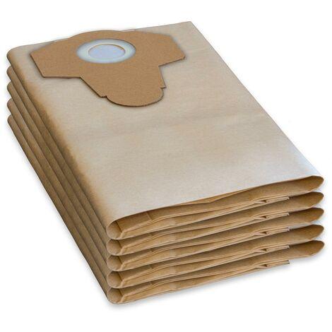 5 Sacs d'aspirateur/sacs à poussière PARKSIDE LIDL Aspirateur à sec humide PNTS 1400, 1500 A1, B1, B2, B3, C1, C3, D1, E2, C4, F2