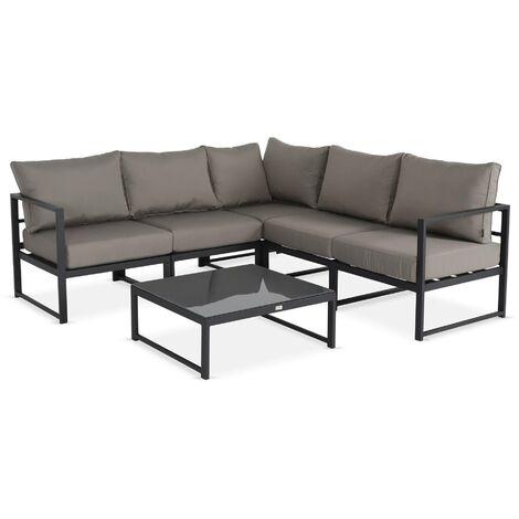"main image of ""5-seater modular garden sofa set-aluminium - Acatium"""