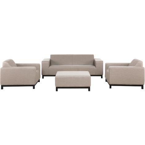 5 Seater Conversation Set Beige ROVIGO III
