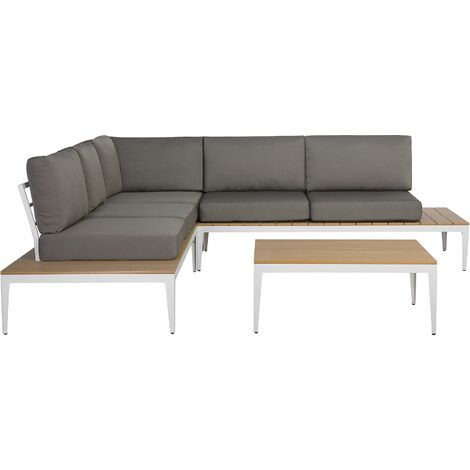 5 Seater Garden Sofa Set Grey POSITANO