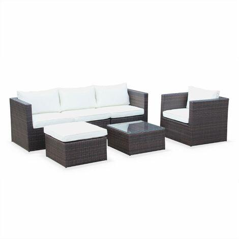 5-seater rattan garden sofa set - Benito