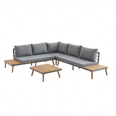 5-seater wooden garden sofa - Buenos Aires