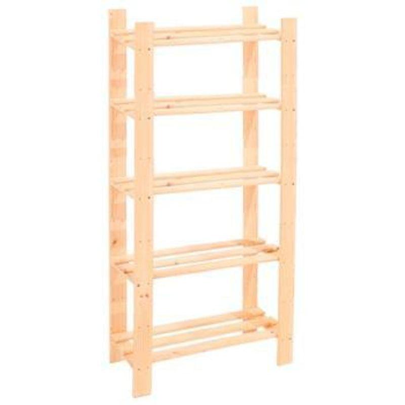 Image of 5 Shelf Slatted Storage Unit