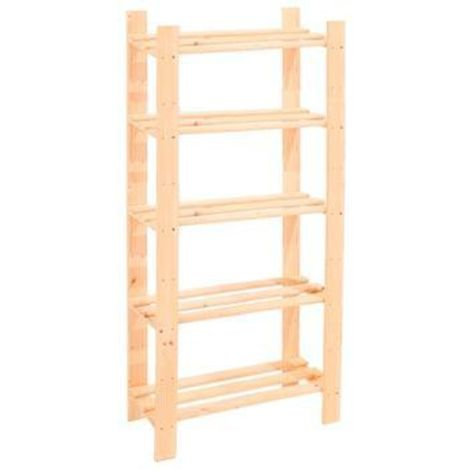 5 Shelf Slatted Storage Unit