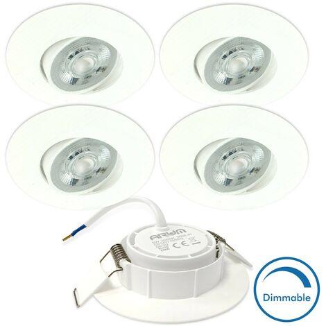 5 Spots Encastrables LED ASTURIE Orientable 5W DIMMABLE Eq. 40W