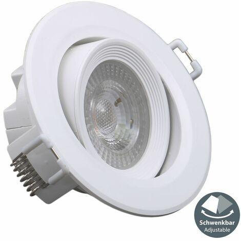 5 spots LED encastrables blancs 230V spots à encastrer ultra-plats