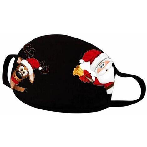 5 Stück Erwachsene Paar Weihnachten Print Mundschutz Anti-Staub Atmungsaktive Waschbar Wiederverwendbar