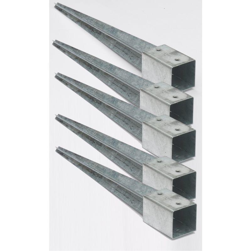 4 x Bodenh/ülse 91x91 75cm lang Erdanker Einschlagbodenh/ülse Einschlagh/ülse