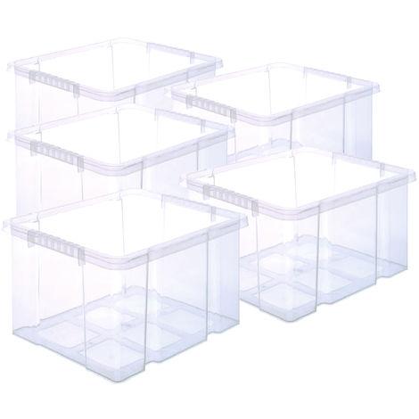 5 Stück Stabile Kunststoffbox Eurobox (Dreh Stapelbar) 44x35x24cm passt in Kastenregale