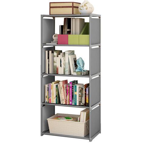 5 Tier Book Shelf Display Plants Stand Organizer Storage Grey