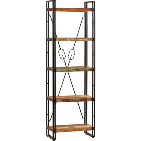 5-Tier Bookcase 60x30x180 cm Solid Reclaimed Wood