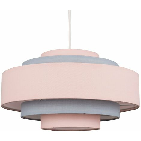 5 Tier Ceiling Pendant Light Shade + 6W LED Bulb - Pink