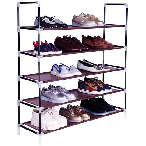 5 Tier for 30 pairs of Shoes Rack Standing Storage Organizer 100 x 29 x 92cm - Different colours