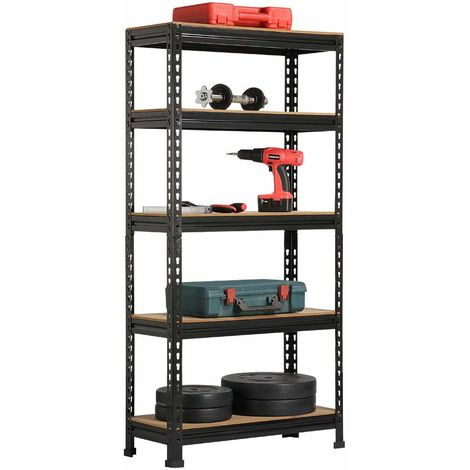 5 Tier Heavy Duty Boltless Metal Shelving Shelves Storage Unit Racking Garage
