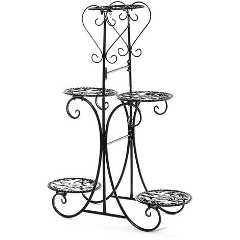 5 tier metal plant stand