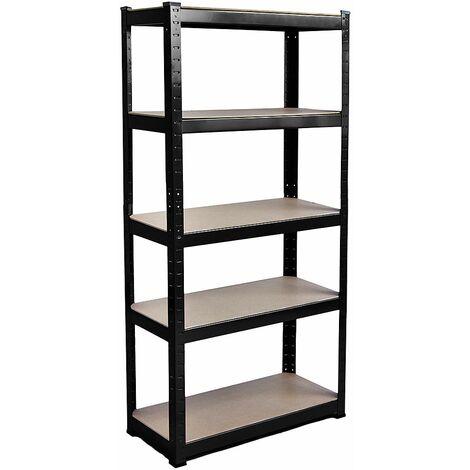5 Tier Shelf, Large, Black