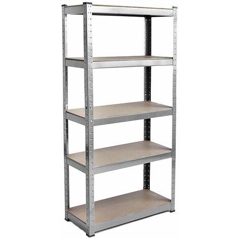 5 Tier Shelf, Large, Galvanised