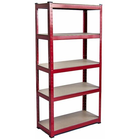 5 Tier Shelf, Large, Red
