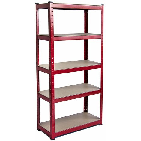 5 Tier Shelf, Red