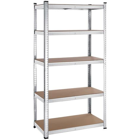 5-Tier Storage Rack, Max. Load 875/650kg, Shelving Unit, Adjustable Shelves, Reinforced Steel Frame, for Garage