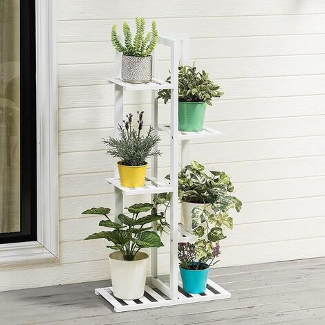 5 Tier Wooden Plant Stand Pot Holder Display Shelf