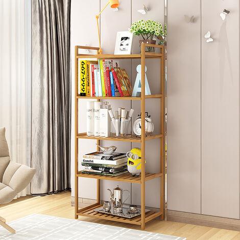 5 Tier Wooden Storage Shelf Bookcase Display Stand