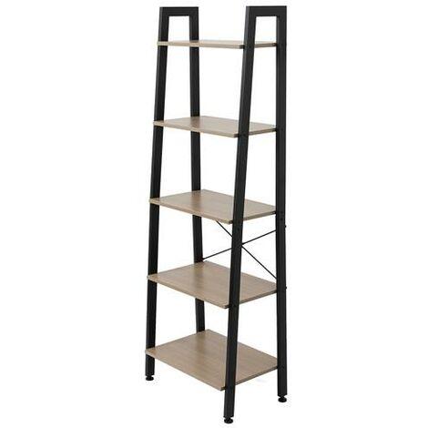 5 Tiers Industrial Ladder Shelf,Bookshelf, Storage Rack Shelf for Office, Bathroom, Living Room£¬Gray Color