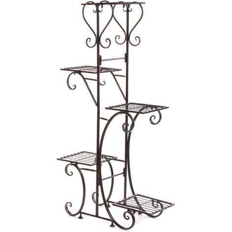 5 Tiers Metal Plant Stand Coffee Display 106.5CM