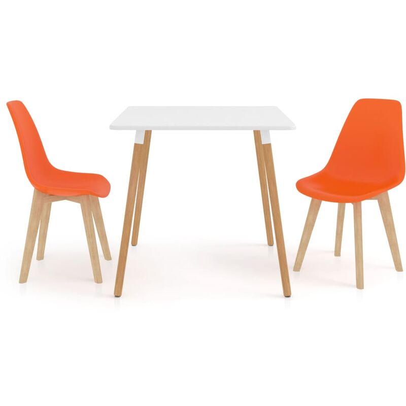 Essgruppe 3-tlg. Orange Modell 1