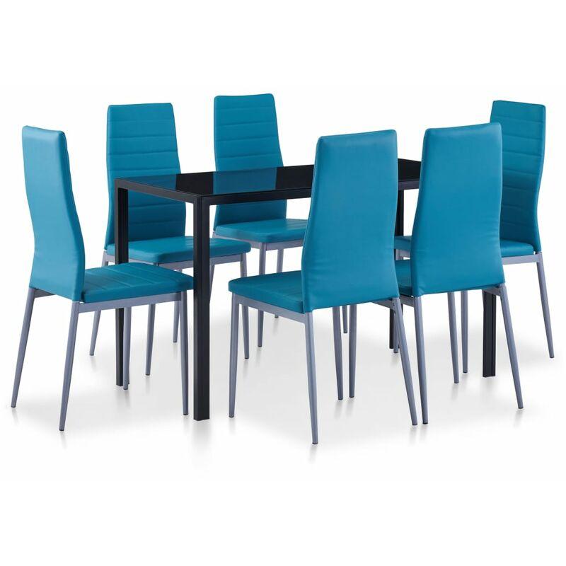 Vidaxl - Essgruppe 7-tlg. Blau